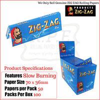 Zig Zag Blu Regolare/formato Standard Sigarette Per Rollare Documenti - Unica -  - ebay.it