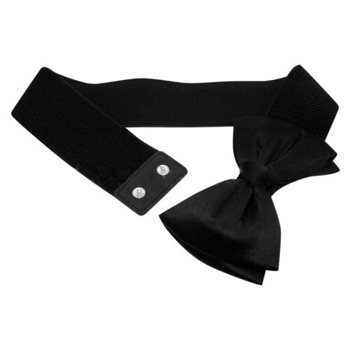 Women's Bow Wide Dress Belt Elastic Stretch Buckle Waist Band Belts Waistband Belts