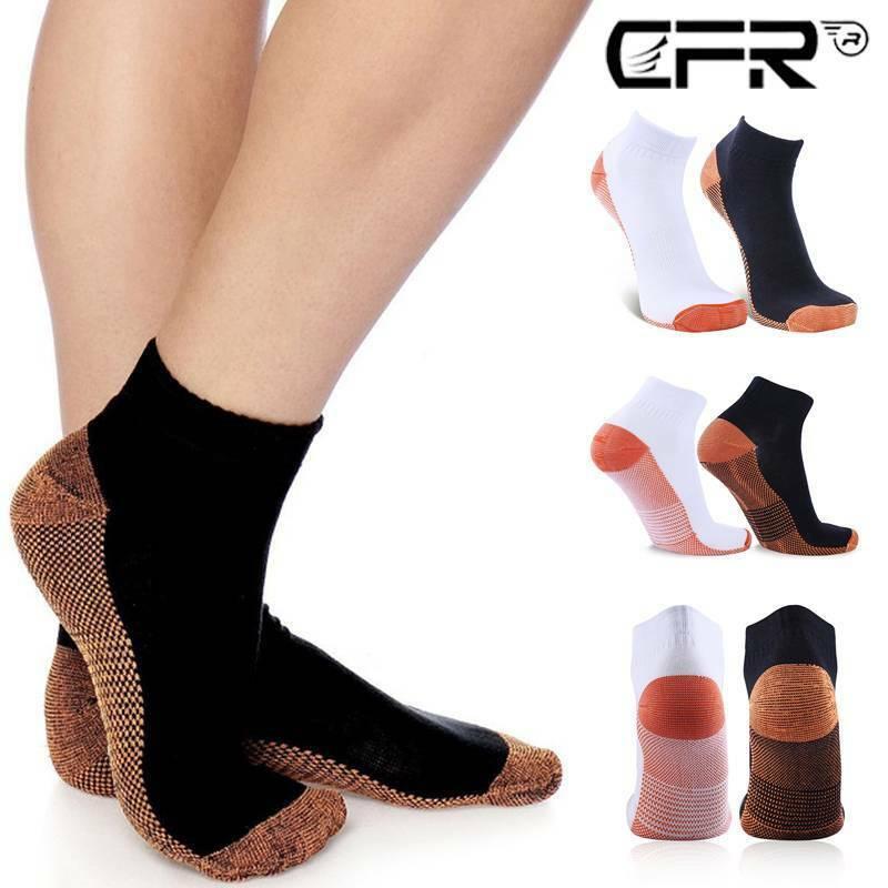 CFR Compression Ankle Brace Copper Socks 20-30 mmHg Support