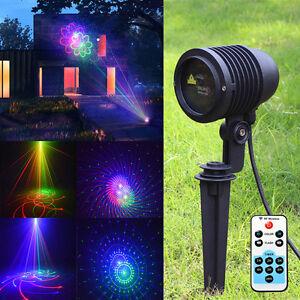 RC LED RGB Laser Projektor Gartenlicht Beleuchtung Laserlicht Wasserdicht GARDEN