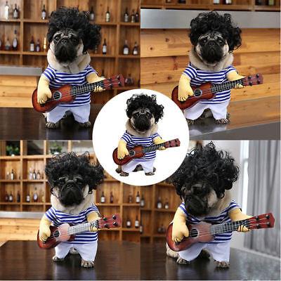 Halloween Party Cosplay Pet Dog Cat Guitar Player Coat Clothes Outfit - Halloween Party Clothes