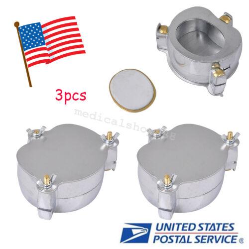 3x dental Lab Aluminium Denture Flask Compressor compress Parts press Equipment