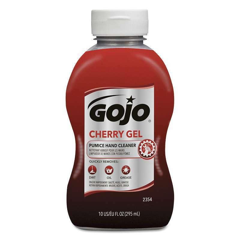 Cherry Gel Pumice Hand Cleaner, 10 oz Bottle,  073852016758