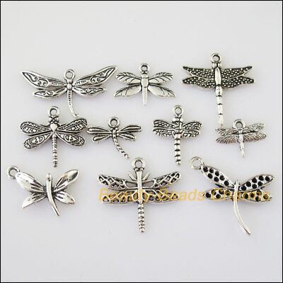 10 New Mixed Lots of Tibetan Silver Tone Animal Dragonfly Charms Pendants](Dragonfly Charms)