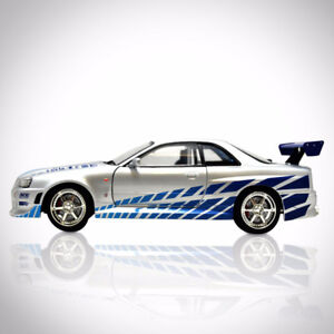 FAST & FURIOUS - BRIAN'S SKYLINE 1/24 Die Cast Car