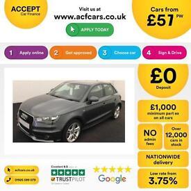 Audi A1 1.6TDI ( 105ps ) Sportback 2014MY S Line FROM £57 PER WEEK !
