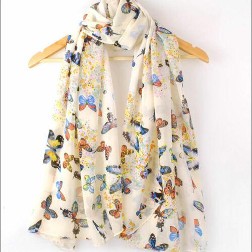 US SELLER-butterfly chiffon infinity scarf