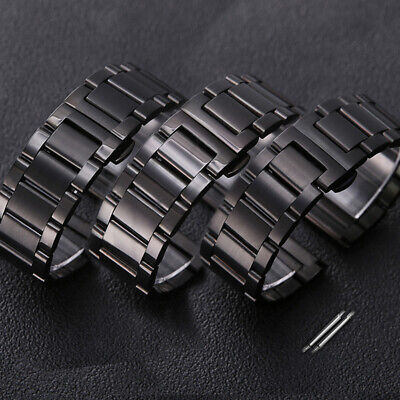 New Brushed/Polished Stainless Steel Bracelet Replacement Watch Band Strap -