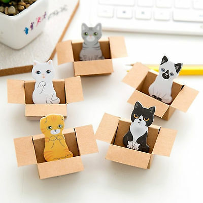 Paper Pad Sticky Notes Cute Kitty House Cat Dog Bookmarks Bookmark Sticker