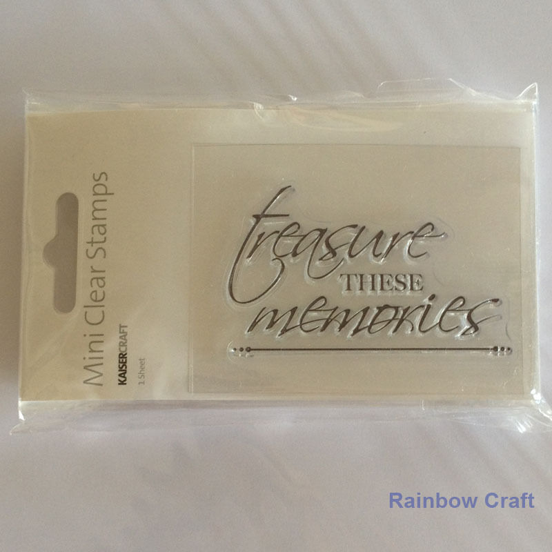 Kaisercraft mini stamps - 26 wording / patterns Scrapbooking card making - Treasured Memories