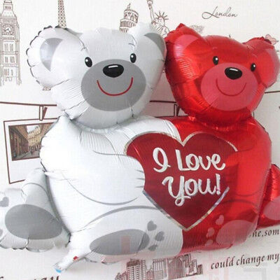 Cartoon Siamese Bear Foil Balloons Party Supplies Wedding Birthday - Bear Balloon