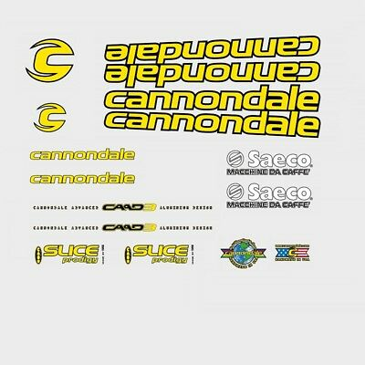 Cannondale Saeco CAAD3 Bicycle Decals, Stickers: n.2018