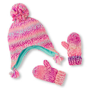 Toddler Girls Hat & Mitten Set's different styles &size (0M-24M)