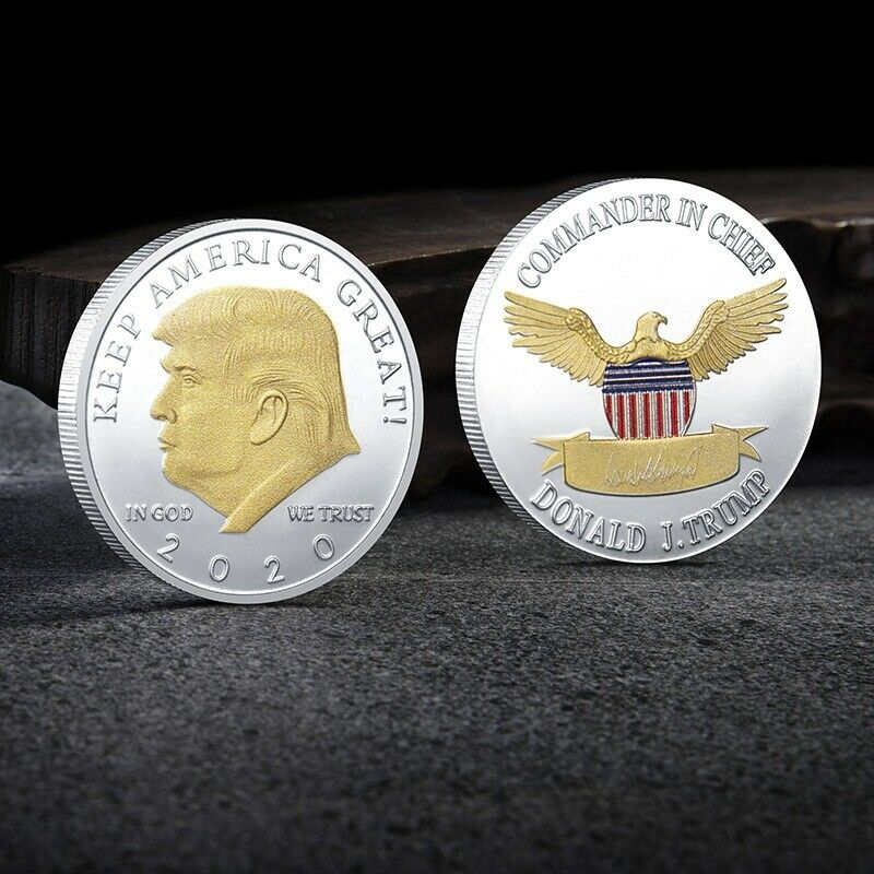 US President Donald Trump 2020 KEEP AMERICA GREAT Silver&Gold Plated Eagle Coin