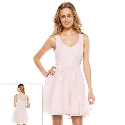 Lauren Conrad Disney Cinderella Pink Mesh Back Chiffon Dress 10 12 CLEARANCE  - Pink Cinderella Dress