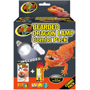 ZooMed Bearded Dragon Lamp Combo Pack New