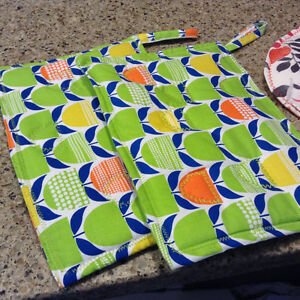 Homemade quilted pot holders