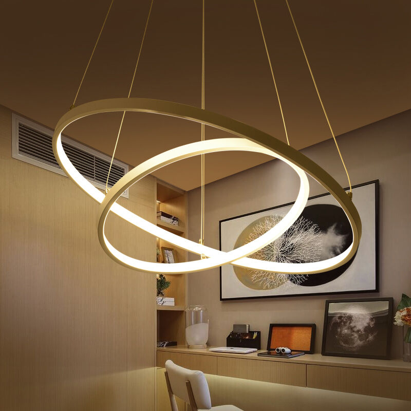 Circular Ring Pendant Lights 3/2/1 Circle Rings Acrylic