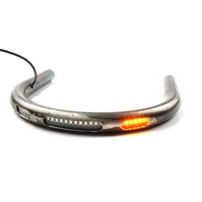 Motorcycle Steel Seat Frame Hoop Loop w/LED Brake Light Turn Signal Indicator