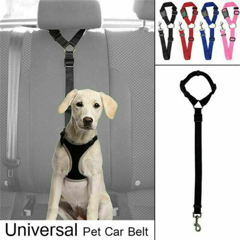 Pet Dog Cat Car Safety Seat Belt Harness Leash Adjustable Tr