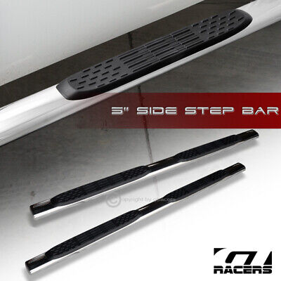 "For 2001-2014 Silverado/Sierra Crew Cab 5"" Oval Chrome Side Step Nerf Bars Board"