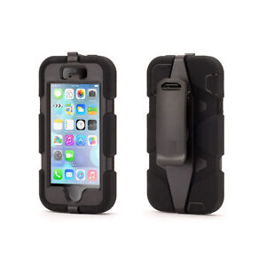 coque etui int grale survivor militaire noir apple iphone se 5 et 5s film ebay. Black Bedroom Furniture Sets. Home Design Ideas