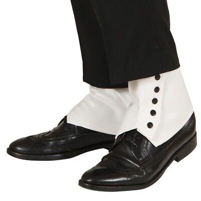 uh Überzieher Gangster Gamaschen Schuhe weiß #9437 (20er Jahre Gangster)
