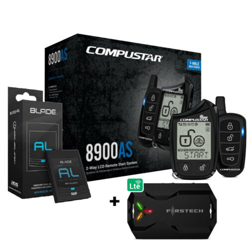 Compustar CS8900-AS 2 Way Remote Start/Alarm + Blade-AL Bypass Unit + X1 LTE