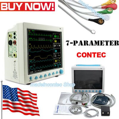 Portable Multi-parameter Vital Signs Patient Monitor Factory Sale 6 Parameters