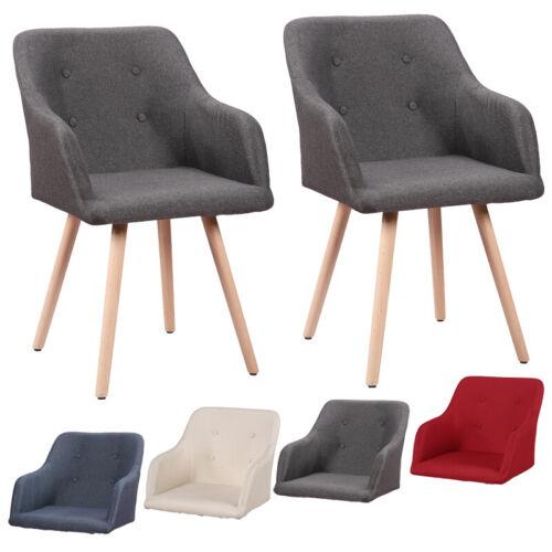 2x Stühle Retro Esszimmerstühle Küchenstuhl Büro Konferenzstuhl Buchenholz Beine