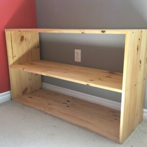 Solid wood open back shelf