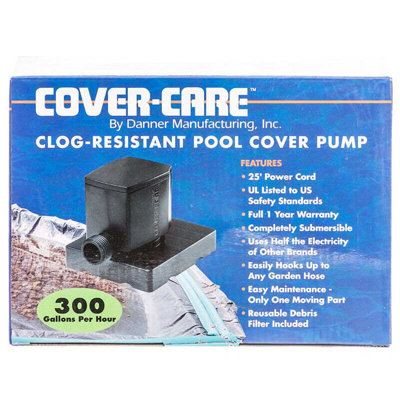 Danner Cover-Care Clog-Resistant Pool Cover Pump