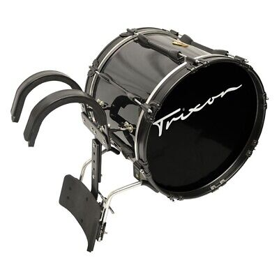 Trixon Pro Marching Bass Drum 18 x 14 Black Black Marching Bass