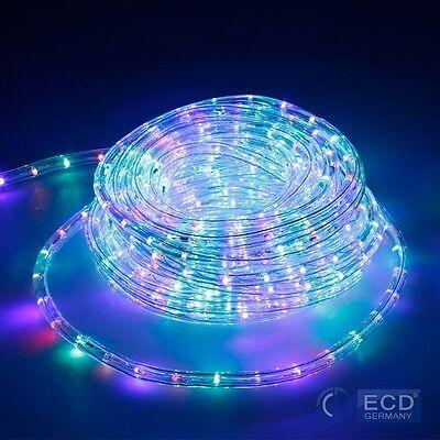10m RGB LED LICHTSCHLAUCH LICHTERSCHLAUCH LICHTERKETTE LICHT AUßEN/INNEN