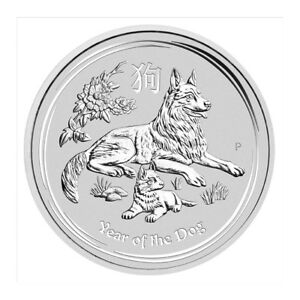 piece en argent/silver lunar II bullion dog 2018 1 oz 9999