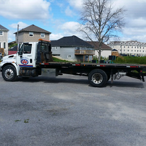 08 international flatbed tow truck