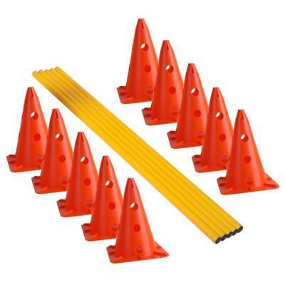 Fußball Kegelhürden Hürden Set Pylonen Kegel Trainingshilfe Koordination Agility