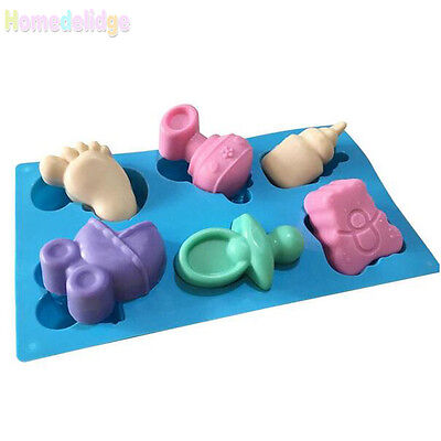 Baby Shower Silicone Mold Chocolate Cake Candy Soap Baking Mould Pan DIy Tools