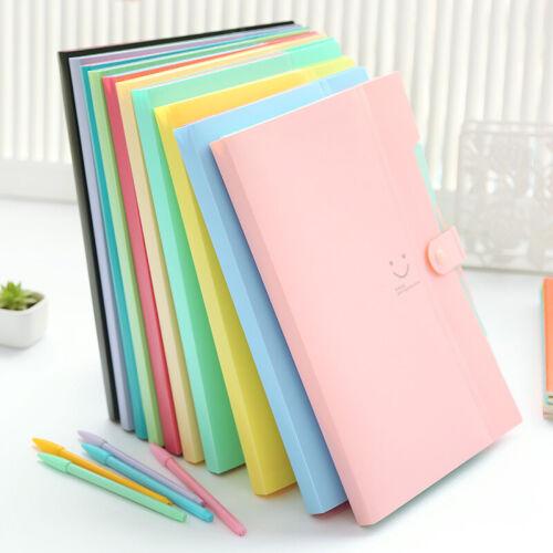 Plastic A4-Paper Expanding File Folder Pocket Document Organ