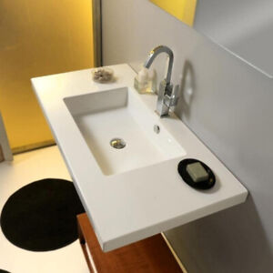 ** NEW** White Ceramic Wall Mounted or Drop In Sink
