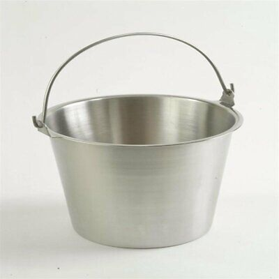 Admiral Craft Pure Stainless Steel Milk Pail Seamless Brushed Finish 2 Quart