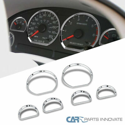 Ford 94-04 Mustang 6PCs Dashboard Gauge Bezel Trims Covers Chrome