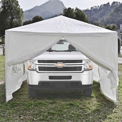 ALEKO Portable Garage Carport Car Shelter PartyTent Canopy 30 x 10 Ft White for sale  Shipping to South Africa