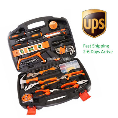 100 pcs Household Tools Garden Home Tool Set Kit Box Repair Hard Case DIY Handy