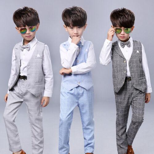 Boys 5 Piece Wedding Party Page Boy Christening Smart Charcoal Grey Suit 1Y-15Y