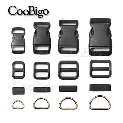 20X Buckle/Tri-Glides/Belt Loop/D Ring Paracord Slider Adjustable Accessories D-ring Belt Loop