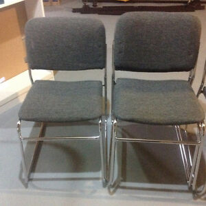 Chrome Stacking Chairs (set of four chairs) London Ontario image 2