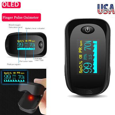 Usa Finger Pulse Oximeter Blood Oxygen Spo2 Monitor Pr Saturation Heart Rate Fda