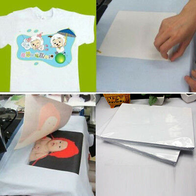 2pcs T Shirt A4 Transfer Paper Iron-on Heat Press Light Fabrics Inkjet Pri Ixy