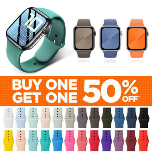 For Apple Watch Silicone Band Strap Series SE 1 2 3 4 5 6 7 Sports 38/40/42/44mm